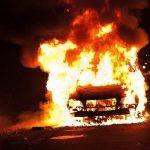 В Боровичах горел автомобиль